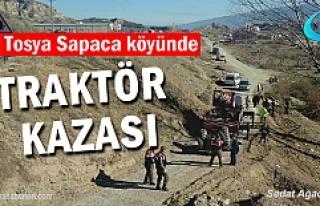 Tosya Sapaca Köyünde Traktör Kazasında 1 kişi...