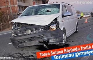Tosya'da Minibüs 'ün çarptığı 1 kişi hayatını...