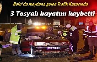 Trafik Kazasında 3 Tosyalı Hayatını Kaybetti