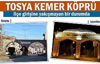 Kemer Köprü Tosya'ya yakışmayan görüntü...