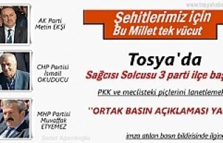 SİYASİ PARTİ TOSYA İLÇE BAŞKANLARININ ORTAK...
