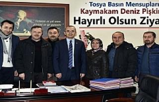 Tosya Basın Mensupları Kaymakam Deniz Pişkin'e...
