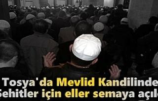 Tosya'da Mevlid Kandilinde Şehitler için eller...