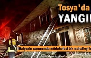 Tosya'da Yangın Faciası itfaiyenin zamanında...