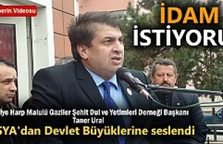 Tosya'dan seslendi '' İDAM İSTİYORUZ...