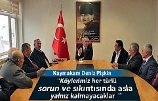Tosya Köy Muhtarları Kaymakam Deniz Pişkin'e...