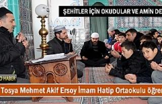 Tosya Mehmet Akif Ersoy İmam Hatip öğrencileri...