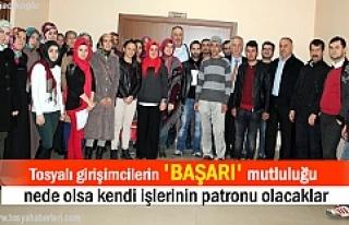 Tosya'da 60 Genç girişimci KOSGEB belgesini aldı