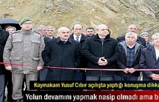 Tosya'da Kızılöz köprüsünün açılışını...
