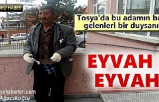 Tosya'da sobayı benzinle söndürmek isteyen vatandaş...