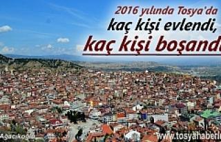 2016 Yılında Tosya'da Kaç Kişi Evlendi ve...