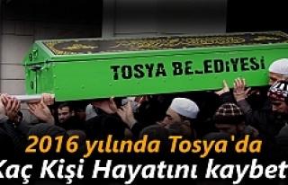 2016 Yılında Tosya'da Kaç Kişi Hayatını...