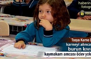 Tosya'da Yarıyıl Tatili Karne dağıtım Töreni...