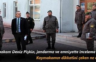 Tosya Kaymakam Deniz Pişkin, Jandarma ve Emniyette...