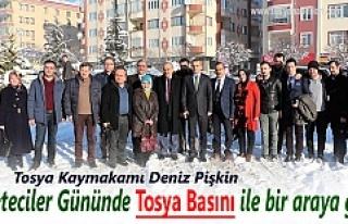 Tosya Kaymakamı Deniz Pişkin Gazetecilerle kahvaltıda...