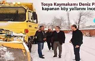 Tosya Kaymakamı Deniz Pişkin Kapanan köy yallarını...