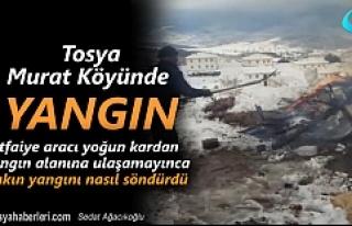 Tosya Murat Köyünde çıkan yangın itfaiyenin ilginç...