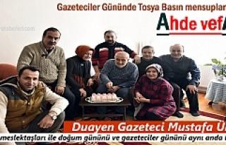 Tosya'nın Duayen gazetecisi Mustafa Ünsal'a...
