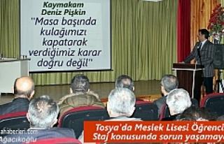 Tosya'da Meslek Liseleri ve Stajer Öğrenci sorunları...