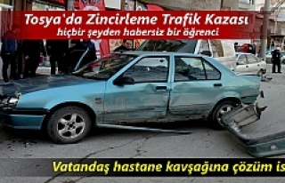 Tosya'da meydana gelen zincirleme Trafik kazasında...