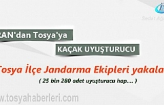 Tosya'da yakalanan İlaç Şişelerinde Uyuşturucu...