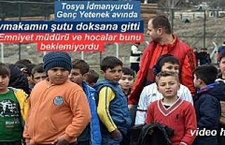 Tosya'da 300 öğrenci Futbol seçmelerine katıldı
