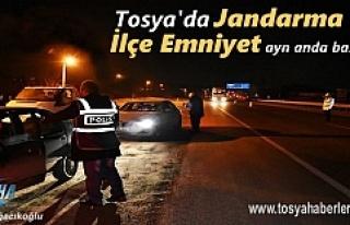 Tosya'da Jandarma ve Polis 'den aynı anda Operasyona...