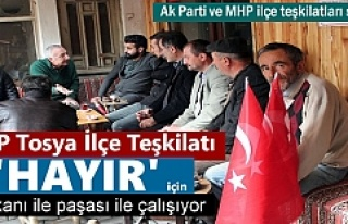 CHP Tosya ilçe teşkilatı Tosya'da Referandum...