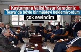 KASTAMONU VALİSİ TOSYA ZİYARETİNDE SÜRPRİZ BİR...