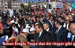 Orman ve Su İşleri Bakanı Veysel Eroğlu Tosya...