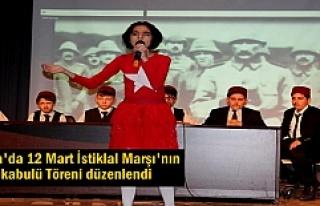 Tosya'da 12 Mart İstiklal Marşı'nın Kabulü...