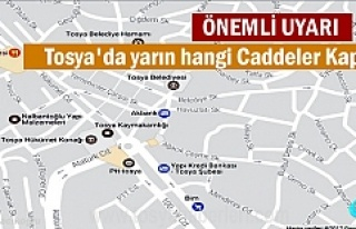 Tosya'da Yarın Hangi Caddeler Trafiğe Kapalı