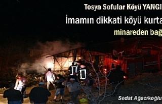 Tosya Sofular Köyünde Yangın (Görüntülü Haber...