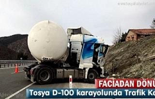 Tosya'da Kaza yapan LPG Tankeri boş olması faciayı...