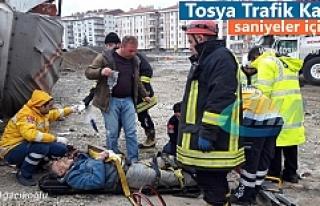 Tosya'da Trafik kazasında 2 kişi ağır yaralandı