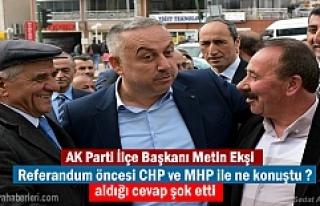 AK Parti İlçe Başkanı Metin Ekşi kısa süreli...