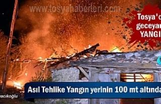 Tosya'da Bağ Evi Geceyarısı Yandı ( GÖRÜNTÜLÜ...