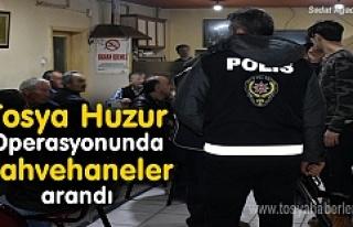 Tosya'da Kahvehaneler didik didik arandı