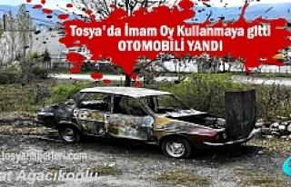 Tosya'da Oy Kullanmaya giden İmamın Otomobili...
