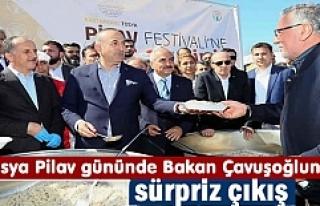 Tosya Pilav Gününe Bakan Çavuşoğlu katıldı