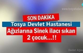 Tosya'da ağızlarına sinek ilacı sıkan 2 çocuk...