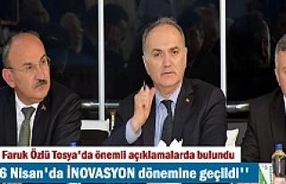 Bakan Faruk Özlü Tosya'da Sanayiclerle bir...