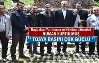 Başbakan Yardımcısı Numan Kurtulumuş ''Tosya...
