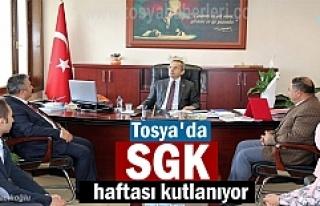 Tosya'da Sosyal Güvenlik Haftası Etkinlikleri...