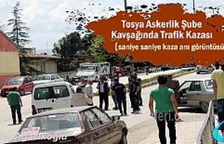 Tosya'da Trafik Kazası Saniye Saniye Güvenlik...