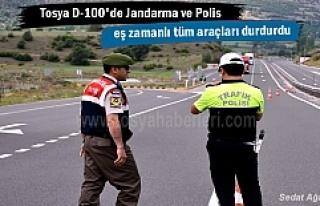 Tosya Polis ve Jandarmadan Huzur Operasyonu