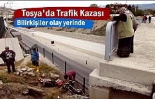 Tosya'da Akıl Almaz Motosiklet Kazası (GÖRÜNTÜLÜ...