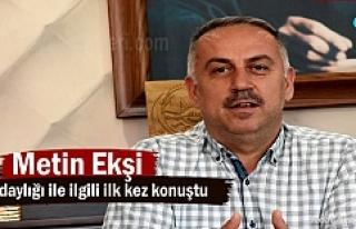 Ak Parti İlçe Başkanı Metin Ekşi yeniden adaylığı...