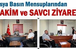 Tosya Basın Mensupları Hakim ve Savcıyı Ziyaret...