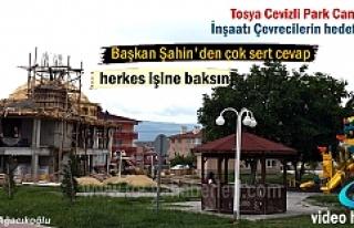 Tosya Cevizli Parkda yapılan Cami İnşaatına Çevreciler...